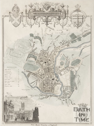 City of Bath Map 1836