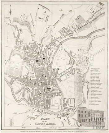 Plan of The City of Bath 1832