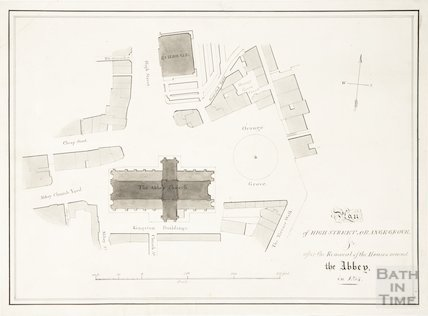 Plan of High Street, Orange Grove & c., Bath 1834