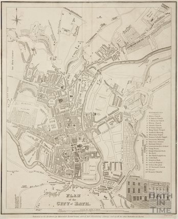 Plan of The City of Bath 1835