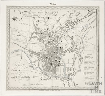 A new and correct plan of the city of Bath 1840