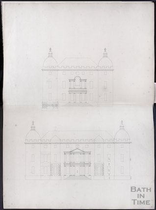 Proposed elevations by John Wood the elder, possibly of the Great House, Kelston, c.1750s