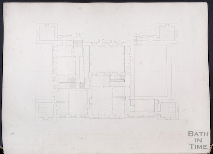 Floor plan by John Wood the elder, possibly of the Great House, Kelston, c.1750s
