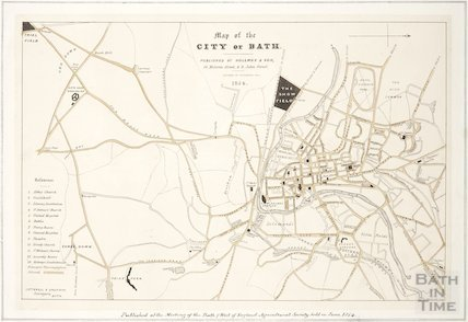 Map of the City of Bath 1854