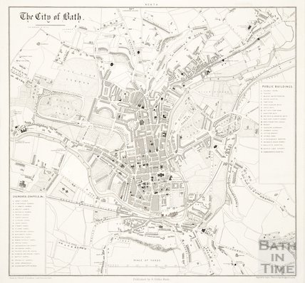 Map of The City of Bath 1856-66