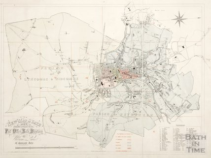 New map of Bath 1864
