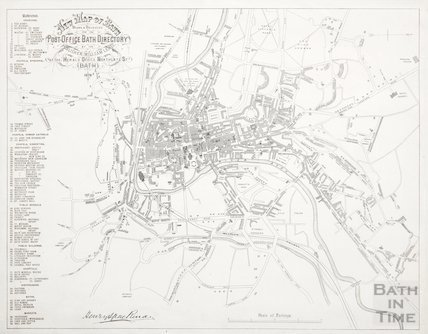 New Map of Bath 1878