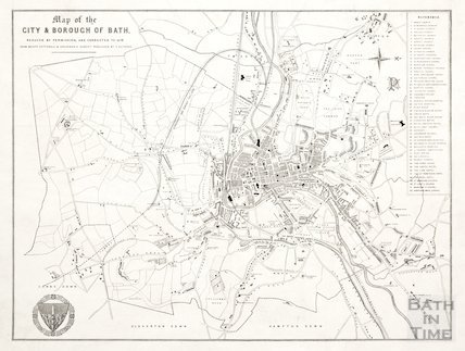 Map of the City & Borough of Bath 1876