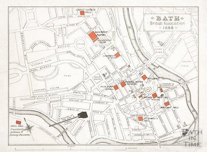 Map of Bath, British Association 1888