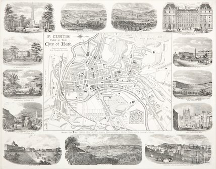 F. Curtis' Plan of the City of Bath 1885