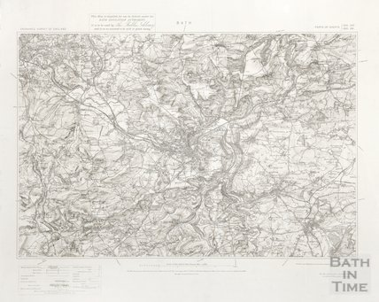 1:10,000 OS map of Bath 1904