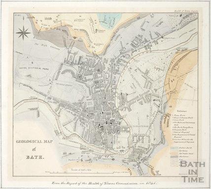 Geological map of Bath 1845
