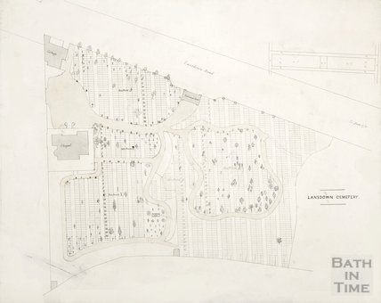 Plan of Lansdown Cemetery c.1850?