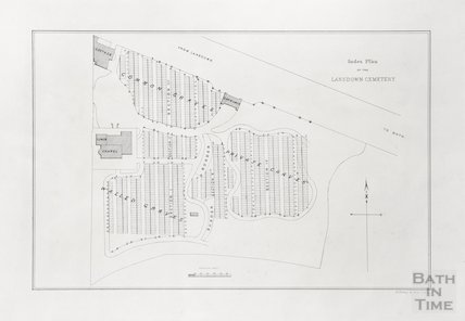 Index plan of the Lansdown Cemetery 1850