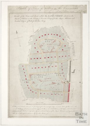 Sketch of Plan for building on the commons George Manners 1827