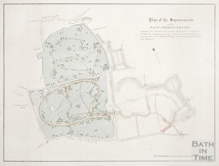 Plan on the improvements on the Bath Common estate 1829