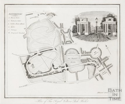 Plan of the Royal Victoria Park Bath c.1830