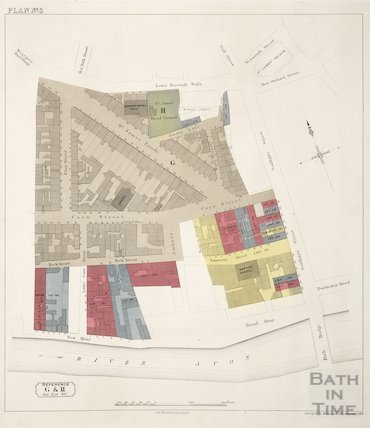 Sales plan for Lower Borough Walls to New Quay area - Lot 80 - Plan No. 3 pre-1872