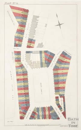 Sales plan for St. James's Square, Great Bedford Street and Park Street - Lots 81-247 - Plan No. 4 pre-1872