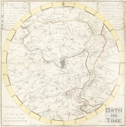 A Plan of 5 Miles Round the City of Bath 1773