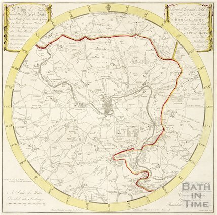 A Plan of 5 Miles Round the City of Bath 1787