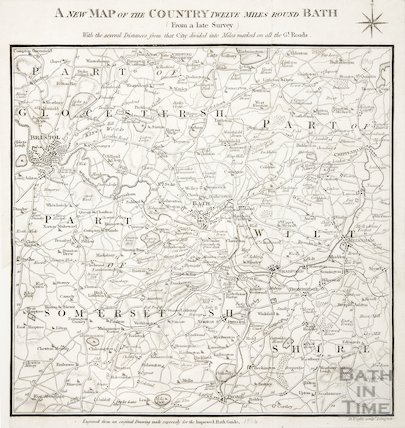 A new map of the country twelve miles round Bath 1844