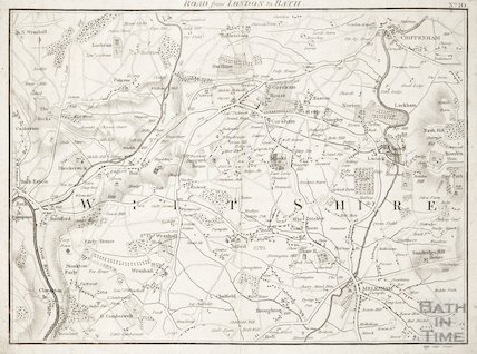 Map of the Road from London to Bath through Wiltshire c.1800?
