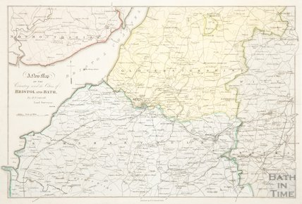 A new map of the country round the cities of Bristol and Bath c.1850?