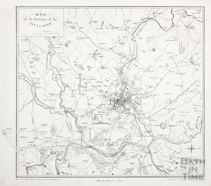 Map of the Environs of the City of Bath 1875