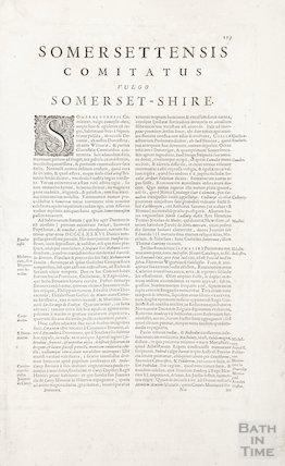 Somersettenis Comitatus Vulgo Somerset-Shire 1659