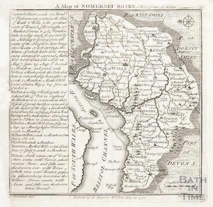 A Map of Somersetshire 1742
