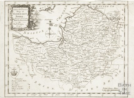 A New and Correct Map of Somerset Shire drawn from the Best Authorities by Thomas Bowen c.1784