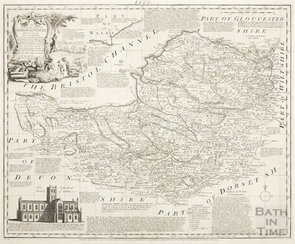 An accurate map of Somersetshire divided into hundreds 1777
