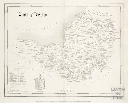 Map of Bath & Wells 1841