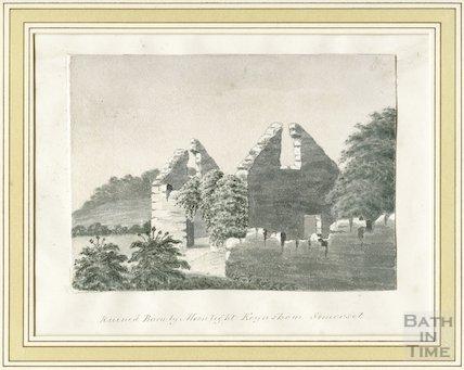 Ruined Barn by Moonlight, Keynsham, Somerset, c.1860s?