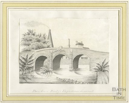 The Avon Bridge and Glassworks, Keynsham, Somerset, c.1860s