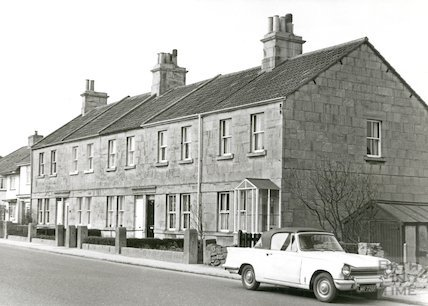 Clifton Terrace, Upper Wellsway, March 1970.