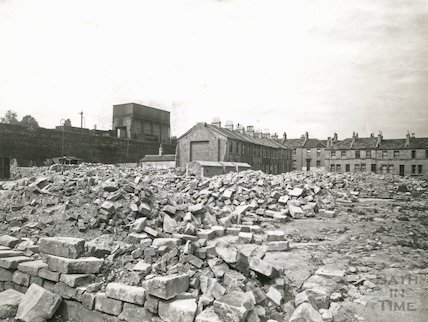 The aftermath of the Bath Blitz, Cheltenham Street, Bath, c.1948