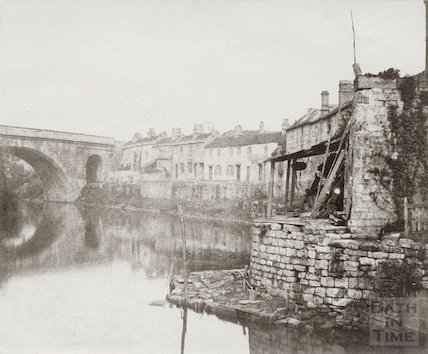 Dolemeads, St. James bridge and the River Avon, Bath, c.1859