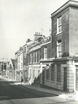 Claverton Street, Bath showing the Claverton Brewery, 1965.