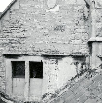 11 Lyncombe Place, from the roof of No 10. January 1964.