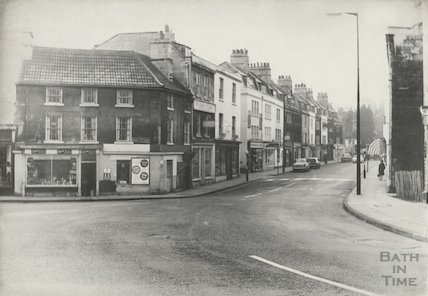 Widcombe Parade looking west from junction of Widcombe Hill and Prior Park Road, October 1965.