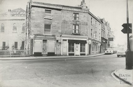 Coburg Place, Widcombe - The Blank space in front of chapel was formerly Chapel Row October 1965.