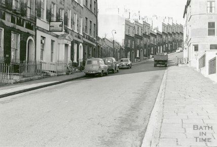 Northampton Street from Julian Road with the White Horse Pub in the left foreground, c.1960s