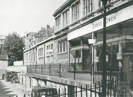 Evans & Owen, St Andrews Terrace, Bartlett Street, Bath, 1975