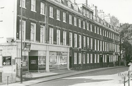 Evans and Owen restaurant, Alfred Street, Bath, 1975