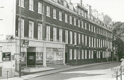 Evans and Owen restaurant, Alfred Street, Bath, 1975