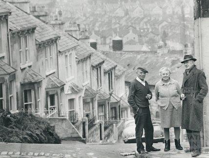 Clarence Street, Bath, January 1969