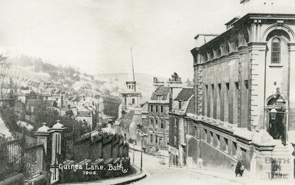 St Swithin's, Walcot Church from Guinea Lane Bath, c.1915