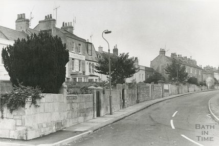 Richmond Place and the Richmond Arms, Lansdown, Bath, c.1970s?